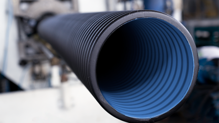 corrugated-pipe-blue